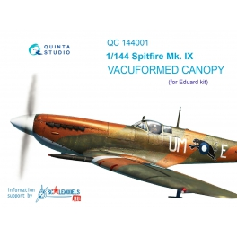 Spitfire Mk.IX vacuformed clear canopy, 3 pcs (for Eduard kit)