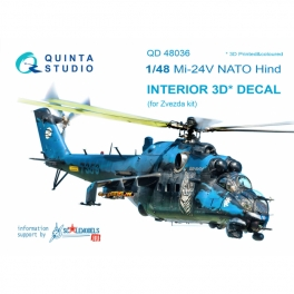 Mi-24V NATO (black panels) 3D-Printed & coloured Interior on decal paper (for Zvezda kit)