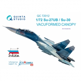 Su-27UB/Su-30 vacuformed clear canopy(for Zvezda kit)