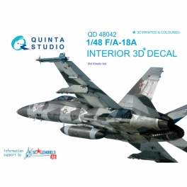 F/A-18A 3D-Printed & coloured Interior on decal paper (for Kinetic)
