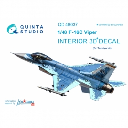 F-16С 3D-Printed & coloured Interior on decal paper (for Tamiya kit)