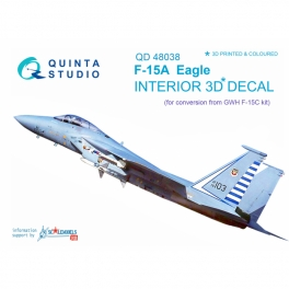 F-15A 3D-Printed & coloured Interior on decal paper (for GWH kit)