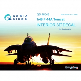 F-14A 3D-Printed & coloured Interior on decal paper (for Tamiya kit)