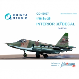 Su-25 3D-Printed & coloured Interior on decal paper (for KP kit)