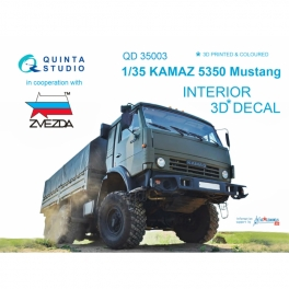 KAMAZ 5350 Mustang Family 3D-Printed & coloured Interior on decal paper (for Zvezda kits)