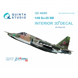 Su-25SM 3D-Printed & coloured Interior on decal paper (for KP kit)