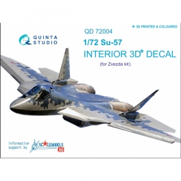 SU-57 3D-Printed & coloured Interior on decal paper (for Zvezda kit)