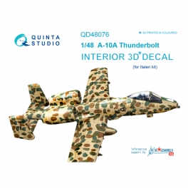 A-10A 3D-Printed & coloured Interior on decal paper (for Italeri kit)