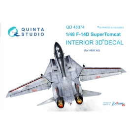 F-14D 3D-Printed & coloured Interior on decal paper (for AMK kit)