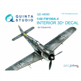 FW 190A-4 3D-Printed & coloured Interior on decal paper (for Eduard kit)