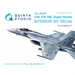 F/A-18E 3D-Printed & coloured Interior on decal paper (for Hasegawa kit)