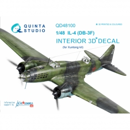 IL-4 3D-Printed & coloured Interior on decal paper (for Xuntong kit)