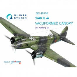 IL-4 vacuformed clear canopy (for Xuntong kit)