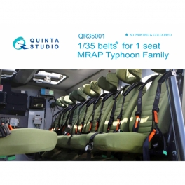 MRAP Typhoon Family belts for 1 seat, 3D-Printed & coloured on decal paper (for all kits)