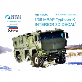 MRAP Typhoon-K 3D-Printed & coloured Interior on decal paper (for Zvezda kits)