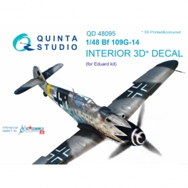 Bf 109G-14 3D-Printed & coloured Interior on decal paper (for Eduard kit)