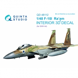 F-15I 3D-Printed & coloured Interior on decal paper (for GWH kit)