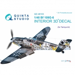 Bf 109G-6 3D-Printed & coloured Interior on decal paper (for Tamiya kit)