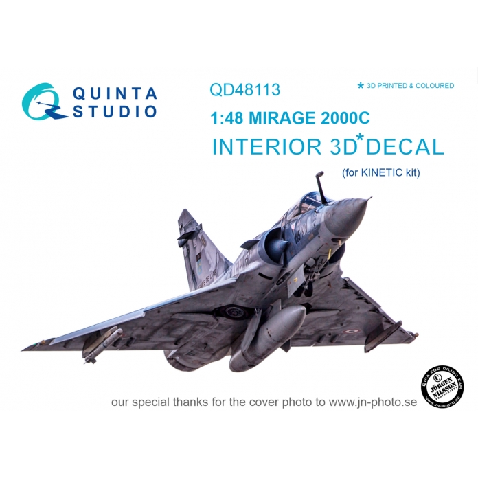 Mirage 2000C 3D-Printed & coloured Interior on decal paper (for Kinetic kit)