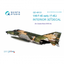 F-4E early/F-4EJ 3D-Printed & coloured Interior on decal paper (for ZM SWS kit)