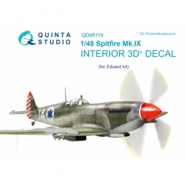 Spitfire Mk.IX 3D-Printed & coloured Interior on decal paper (for Eduard kit)