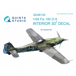FW 190D-9 3D-Printed & coloured Interior on decal paper (for Eduard kit)