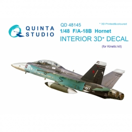F/A-18B 3D-Printed & coloured Interior on decal paper (for Kinetic kit)