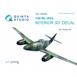 Me-262A 3D-Printed & coloured Interior on decal paper (for Tamiya kit)