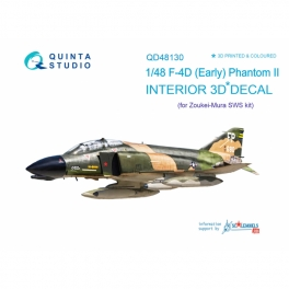 F-4D early 3D-Printed & coloured Interior on decal paper (for ZM SWS kit)