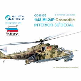 Mi-24P 3D-Printed & coloured Interior on decal paper (for Zvezda kit)
