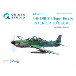 EMB-314 Super Tucano 3D-Printed & coloured Interior on decal paper (for HobbyBoss kit)